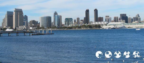 Fotografía de Estados Unidos: San Diego Skyline