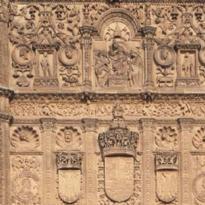 Detalle de la fachada de la catedral
