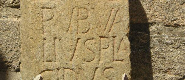 Fotografía de Extremadura: Inscripción romana en la alcazaba de Trujillo