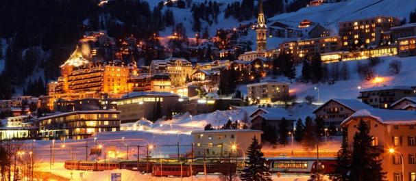 Fotografía de Grisones: Saint Moritz de noche