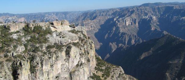 Fotografía de Chihuahua: Vista sobre la Barranca del Cobre desde Divisadero