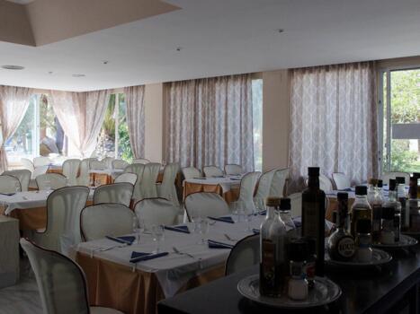 Foto area ristorante Apartamentos Moguima