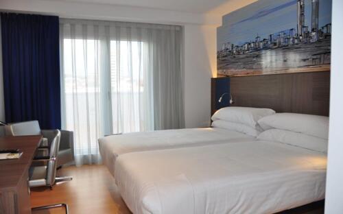 Foto di una camera da Hotel Blue Coruña