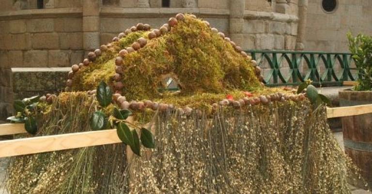 """Fotografía de Orense: Imagen de \""""Os Maios\"""", fiesta tradicional de Gali"""