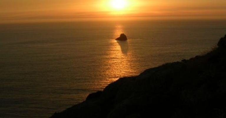 Photo : Ocaso sobre Cabo de Finisterre