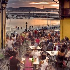 Cuesta Cholo Vista sobre el puerto Benedicto Santo