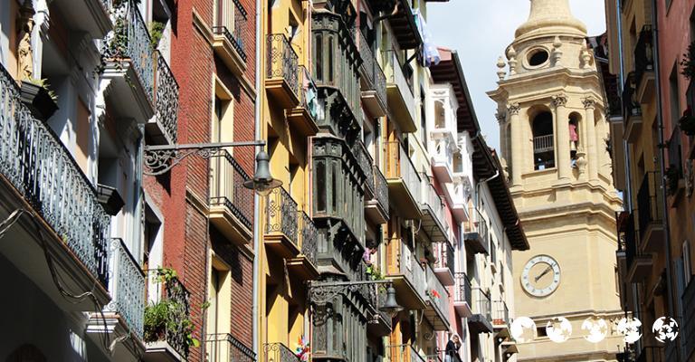 Foto von Pamplona: Balcones