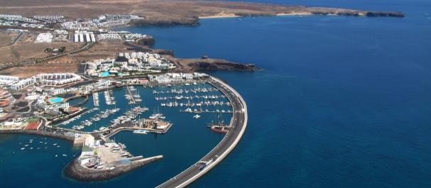 Fotografía de Playa Blanca: Vista aerea de la Marina Rubicón