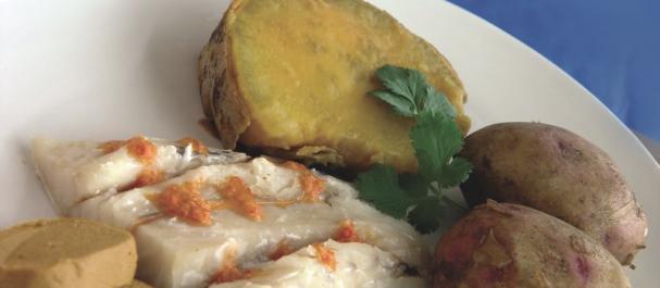 Fotografía de Puerto Rico: Gastronomia de Gran Canaria con papas arrugadas