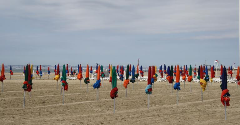 Picture Lower Normandy: Deauville playa