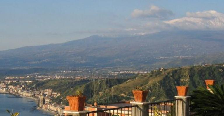 Picture : Taormina y volcán Etna