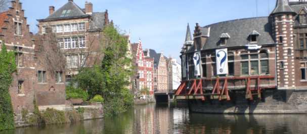 Fotografía de Bélgica: Gante, vista canales