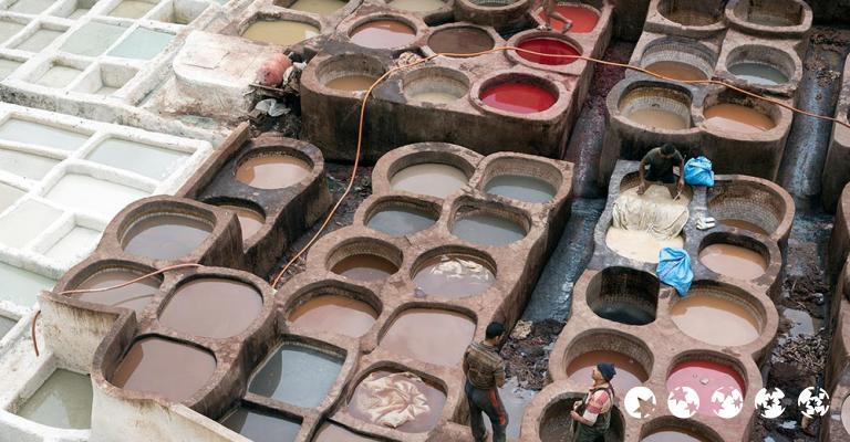 Fotografía de Fez-Bulmán: Fez - Medina Curtiduría Chouwara