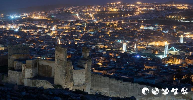 Fotografía de Fez-Bulmán: Fez - Mirador Les Merinides noche