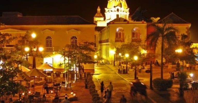 Fotografía de Colombia: Cartagena de Indias de noche