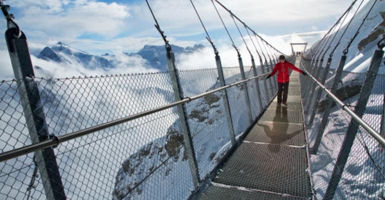 Photo : Esquiando en los Alpes suizos